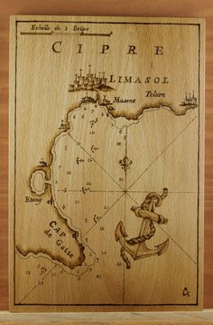 Pyrography of an 18th century nautical chart of by LedraPyrography; this pinner's comment:  looks like a lot of work but the results are marvelous!