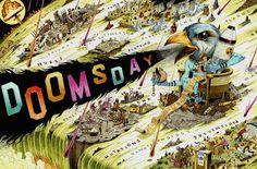 Doomsday Art: John Hendrix's Disaster Portfolio Apocalypse Fashion, Apocalypse Art, Twin Towers Falling, John Hendrix, Order Of Angels, Global Art, Illustrators, How To Draw Hands, Drawings