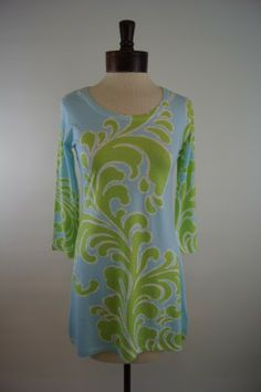 Before + Again Butter Knit Tunic Lime, Made in the USA