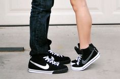 Couple matching shoes