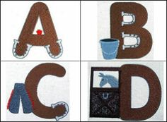 """""""Around the Barn"""" embellished font set comes with a full set of capital letters, adorned with equine gear, horseshoes and more!"""
