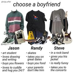 niche memes niche meme choose pick a boyfriend boogzel apparel Grunge Outfits, Teen Fashion Outfits, Retro Outfits, Mens Fashion, Aesthetic Fashion, Aesthetic Clothes, Skateboard Style, Looks Style, Style Me
