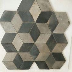 Fornace Brioni 1920 handmade terracotta Grey - #hexagon #hexalove #grey #fornacebrioni