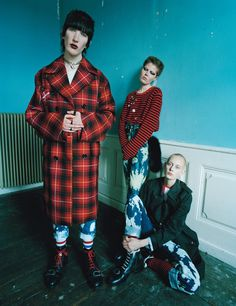 Something a little bit Johnny Rotten in the state of Denmark, perhaps? 'Carolinet Clante (center) is a model, a stylist, & a conduit for all things cool in Denmark', Tim Walker notes.