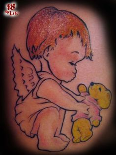 The concept of a cherub being attributed to a baby did not come in