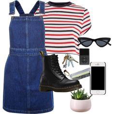 Untitled #1160 by royalcouncil on Polyvore featuring polyvore, fashion, style, Topshop, Dr. Martens, Le Specs and clothing
