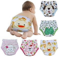 [Visit to Buy] Joyo Roy 2pcs/lot 4 Layers Waterproof Baby Diapers Baby Boy Shorts Baby Girl Underwear Infant Training Panties Baby Nappies #007 #Advertisement