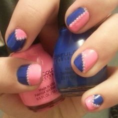 Endless Blue and 24/7 pink by Sinful Colors