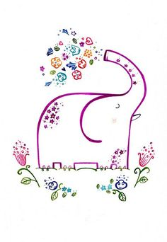 a happy elephant would be cute to embroider