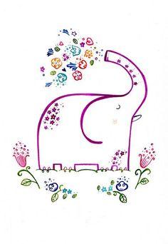 Happy Elephant ! by Wetpaint Design & Illustration, via Flickr