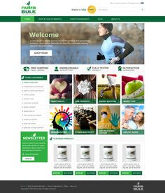 Custom #ebay store design for #health and #wellness store NutraBulk (2015 design by OCDesignsonline)