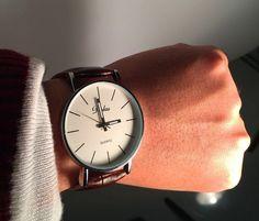 Klasyczny Zegarek Dalas skórzany Srebrny KLASYKA gentelman Daniel Wellington, Watches, Leather, Accessories, Wristwatches, Clocks, Jewelry Accessories