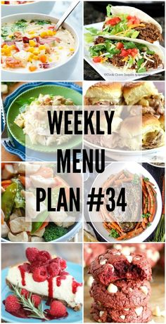 Weekly Menu Plan #34! Our favorite recipe ideas for you to use as you are planning out your meals for the week.