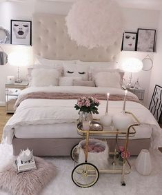 Simple bedroom ideas for girls girls bedroom decor ideas cozy home decorating ideas for girls bedrooms . simple bedroom ideas for girls Cozy Bedroom, Home Decor Bedroom, Living Room Decor, Master Bedroom, Bedroom Storage, White Bedroom, Bedroom Wall, Bedroom Romantic, Stylish Bedroom