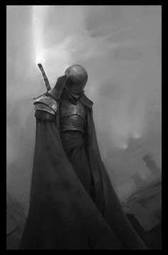 if a faceless suit of armour could look forlorn, this does (among 'daily sketches' by Valentin Gloaguen on ArtStation) Fantasy Concept Art, Fantasy Character Design, Fantasy Armor, Dark Fantasy Art, Medieval Fantasy, Dark Art, Character Art, Dnd Characters, Fantasy Characters