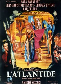"Journey Beneath the Desert (1961) ""Antinea, l'amante della città sepolta"" (original title) Stars: Jean-Louis Trintignant, Haya Harareet, Georges Rivière, Rad Fulton, James Westmoreland ~ Gian Maria Volonté ~ Directors: Giuseppe Masini, Edgar G. Ulmer, Frank Borzage"