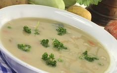 Country potato & cabbage soup. Hearty, healthy Irish soup! It's a meal in a bowl and full of good stuff.