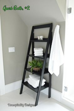 Simple and clean! Maybe downstairs bathroom Decorating Small Spaces, Decorating Tips, Hgtv Dream Homes, Hgtv Designers, Bed Plans, Guest Bedrooms, Decoration, Simple Designs, Sweet Home