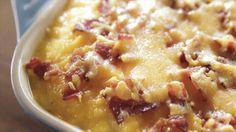 Potato Casserole recipe from Trisha Yearwood via Food Network (Season 6 -- Mother's Day) Trisha Yearwood's potato casserole from Food Network is extra-savory thanks to cheddar and bacon. Potatoe Casserole Recipes, Potato Recipes, Vegetable Casserole, Beef Casserole, Veggie Recipes, Potato Meals, Asparagus Casserole, Casserole Ideas, Squash Casserole