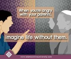 Image result for islamic quotes about parents disrespect