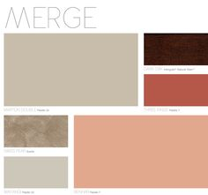 MERGE Palette from Dulux Colour Forecast 2013