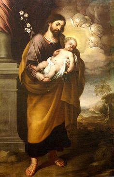 Francisco Meneses Osorio (1640-1721)  —  St. Joseph with the Child, 1684  (485x750)