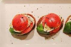 At Maria's // caprese salad on rye bread Rye Bread, Caprese Salad, Avocado Toast, Breakfast, Photos, Food, Morning Coffee, Pictures, Essen