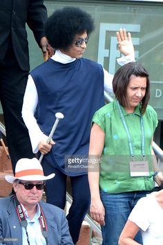 Singer Prince attend the Roland Garros French Tennis Open 2014 - Day 9 on June 2, 2014 in Paris, France.