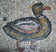 Duck Floor mosaic.  S. Vitale Photo credit: Rollingharbour's Image Gallery