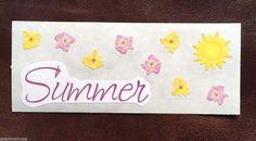 CREATIVE MEMORIES STICKERS: SUMMER SUNSHINE FLOWERS  #MrsGrossman