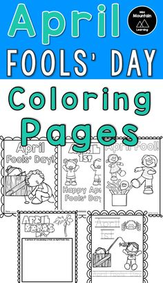 5 April Fool's Day Coloring Pages Fathers Day Coloring Page, New Year Coloring Pages, Valentines Day Coloring Page, Thanksgiving Coloring Pages, School Coloring Pages, Jokes For Kids, Kid Jokes, Calming Activities, April Fools Day