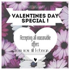• Valentine's Day Special •  From now till February 20th I'm accepting reasonable offers! Please do take the advantage since this is limited time only and any purchases made are shipped out 1-2 business day. Any questions or concerns please don't hesitate to leave a comment down below, Thank you and Happy Poshing my Poshies !  Other