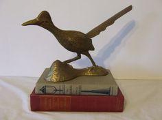 Vintage Large Brass Road Runner  Figurine  by ModernDeuxVintage