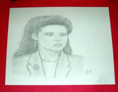 SEINFELD/ELAINE BENES/ PENCIL DRAWING SIGNED BY ARTIST   BW