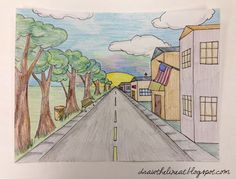 One-Point Perspective City Scapes | Draw the Line At