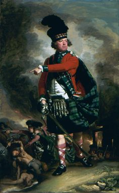 """1780. """"Portrait of Hugh Montgomerie, 12th Earl of Eglinton"""" by John Singleton Copley. Wearing the uniform he wore with the 77th Highlanders during the French & Indian War in America. Men -- Clothing & dress -- 1700-1799 -- Scotland. 18th century Scottish costume."""