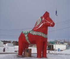 Dala horse (Swedish) in Mora, MN