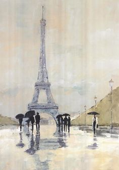 April in Paris Art Print by Avery Tillmon-I have this print in my bedroom!