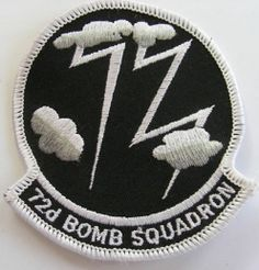 72nd BOMB SQUADRON USAF AIR FORCE ORIGINAL PATCH FREE SHIPPING