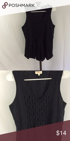 Anthropologie Deletta tank Pleated detail front loose flowy fit Anthropologie Tops Tank Tops