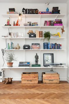 DIY shelving, shelf