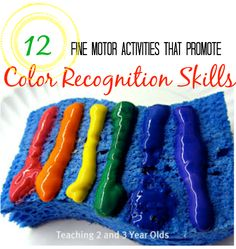 Fine Motor Activities for Building Color Recognition Skills - Teaching 2 and 3 year olds