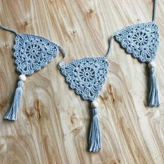 Crochet Boho Bunting 🌻 The Perfect Finishing Touch For Your Nursery, Living Room, Bedroom, or Even Your Patio! ✨ Comes in 3 Custom Sizes: Crochet Garland, Crochet Bunting, Crochet Flowers, Crochet Wall Art, Crochet Home, Diy Crochet, Left Handed Crochet, Crochet Triangle, How To Make Beads