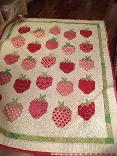 One of my first customer quilts ❤️ Quilted on my longarm spring 2015.
