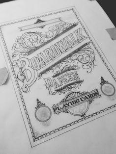 Breathtaking Detailed Hand Lettering & Ornamentation Process {ink} // Drew Melton