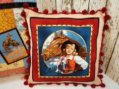 Shabby Cowgirl Rodeo Queen Cowgirl 14 Pillow by GraceLaneCottage