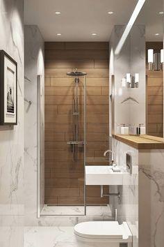 Tiny bathrooms 515451119852409261 - 40 Elegant Small Bathroom Decor Ideas On A Budget Source by fdjien Diy Bathroom, Bathroom Layout, Modern Bathroom Design, Bathroom Interior Design, Budget Bathroom, Bathroom Sinks, Bathroom Cabinets, Wooden Tile Bathroom, Brown Bathroom
