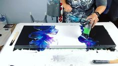 Acrylic Pouring Art, Acrylic Painting Techniques, Pour Painting, Diy Painting, Resin Crafts, Resin Art, Diy Canvas Art, Mixed Media Canvas, Diy Art