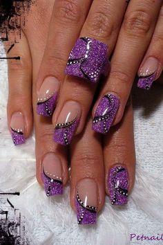 Grape juice #nail art   LOOOOOOOOVE THESE NAILS  !!!   ********