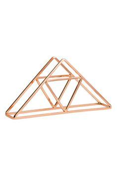Suporte para guardanapos metal: Suporte para guardanapos em metal dourado…